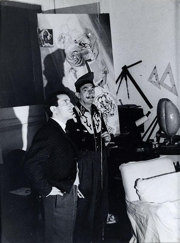 Photograph by Edward Quinn, Dali in his studio