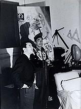 Photograph by Edward Quinn, Dali in his studio