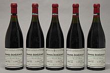 5 bouteilles GRANDS ECHEZEAUX (Grand Cru) 1 à 2,1; 1 à 2,3; 2 à 2,5; 1 à 2,8; 1 e.t.h. légère 1989 Dne de la Romanée Conti
