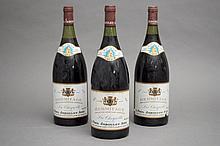 3 magnums HERMITAGE LA CHAPELLE (1 à 3,5; e.t.h; 1 légèrement couleuse) 1990 Jaboulet Ainé