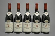 5 bouteilles CHAMBERTIN CLOS DE BEZE (Grand Cru) 2002 Faiveley