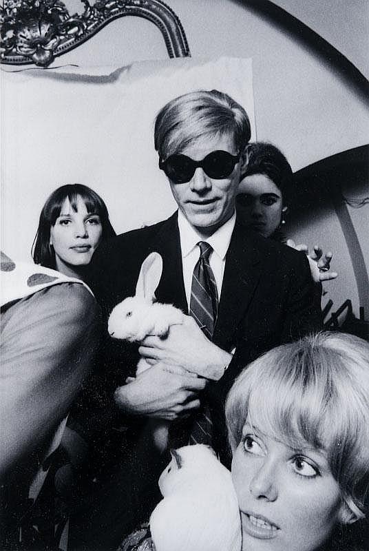 JEAN JACQUES BUGAT (né en 1938)Andy Warhol, 1965.Tirage argentique postérieur, signé.66 x 46 cm.