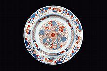 Assiette en porcelaine imari chinois Chine, dynastie Qing, XVIIIème siècle.