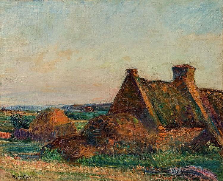 JEAN-BERTRAND PEGOT-OGIER (1877-1915)  Ferme en Bretagne