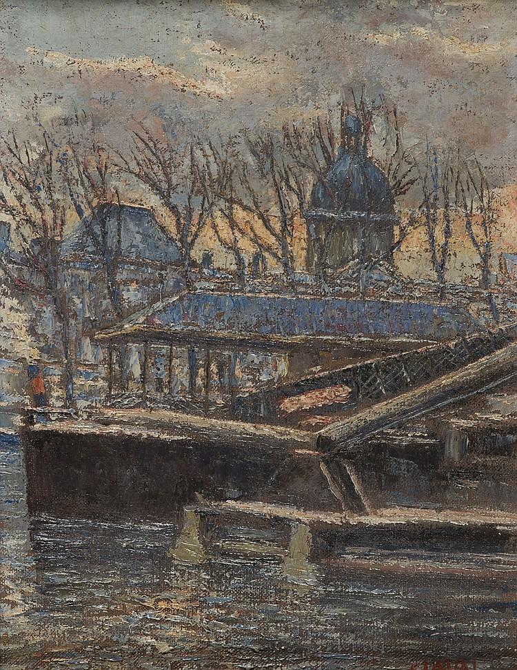 FERNAND LAVAL (1886-1966) Paris, bord de Seine
