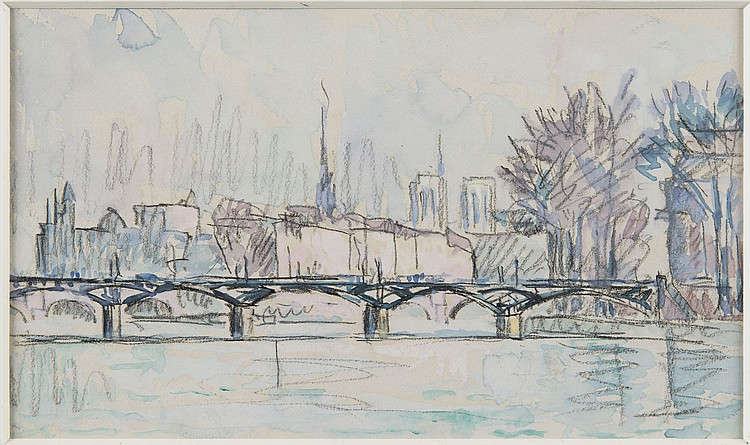 PAUL SIGNAC (1863-1935) Paris, le pont des Arts
