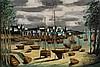 BERNARD BUFFET (1928-1999)  Douarnenez, le Port Rhu à marée basse
