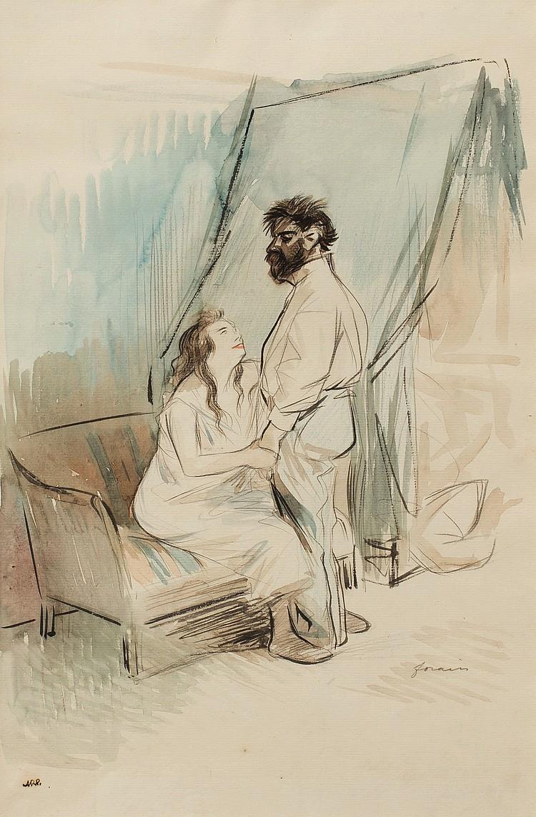 JEAN-LOUIS FORAIN (1852-1931) L'aveu