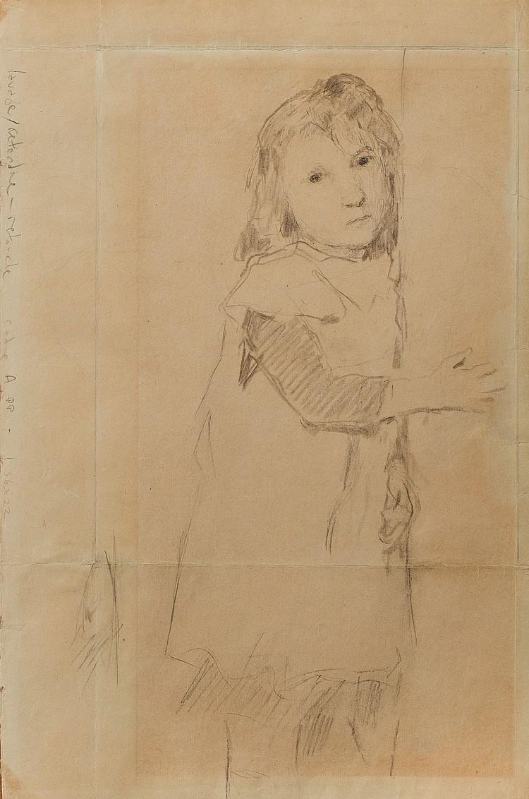 ALBERT ANKER (1831-1910) Portrait de fillette