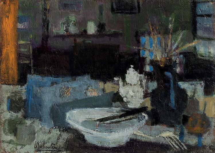 EUGèNE BABOULèNE (1905-1994)  Nature morte au couteau