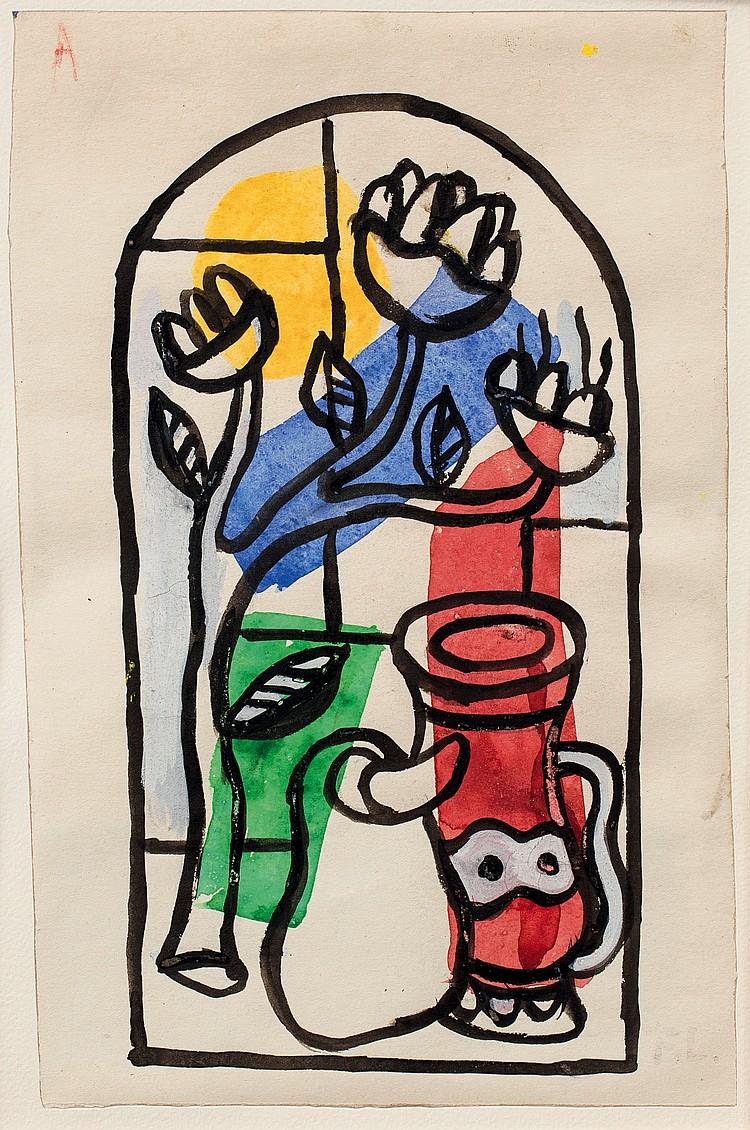 FERNAND LéGER (1881-1955)  Projet de vitrail