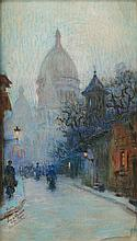 P. PENA ? (XIX-XXè siècles)  Paris, rue du Chevalier de la Barre à Montmartre