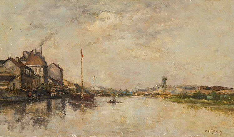 HIPPOLYTE CAMILLE DELPY (1842-1910)  Baie de Somme