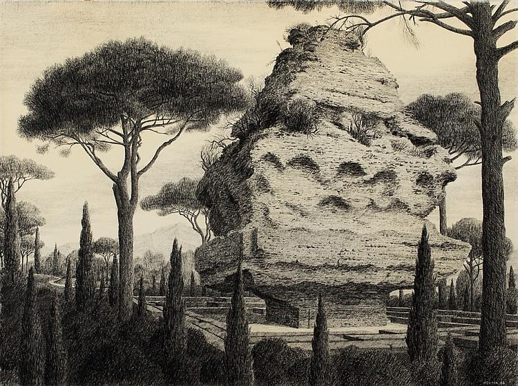FRANçOIS HOUTIN (né en 1950)  Paysage imaginaire
