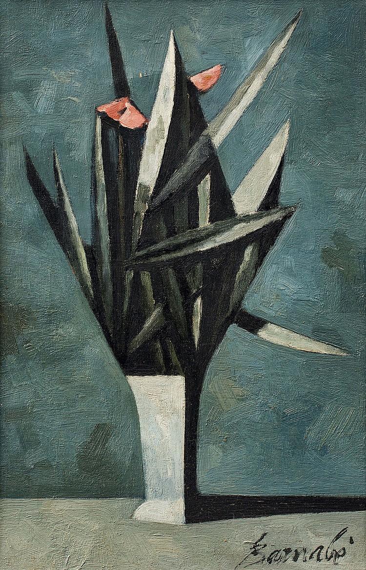 DUILIO BARNABé (1914-1961)  Vase de fleurs