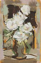 ROLAND DUBUC (1924-1998)  Bouquet dans un vase