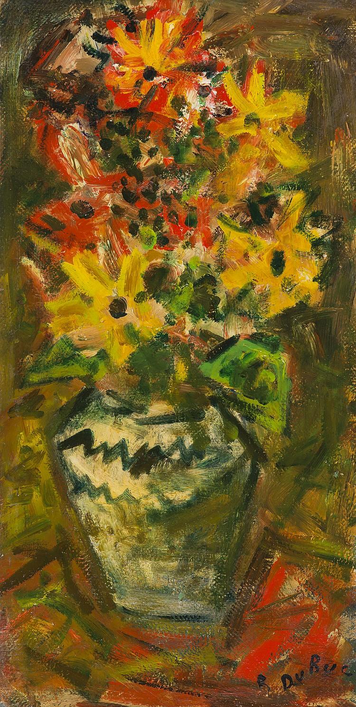 LUCIEN FONTANAROSA (1912-1975) Roses blanches dans un vase