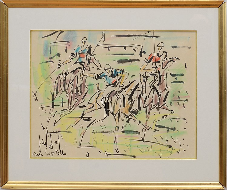 GEN PAUL (1895-1975)  Polo à Bagatelle