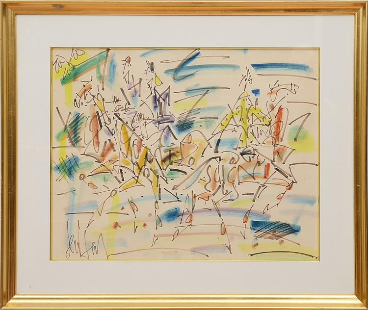 GEN PAUL (1895-1975)  Sans titre (Joueurs de polo)
