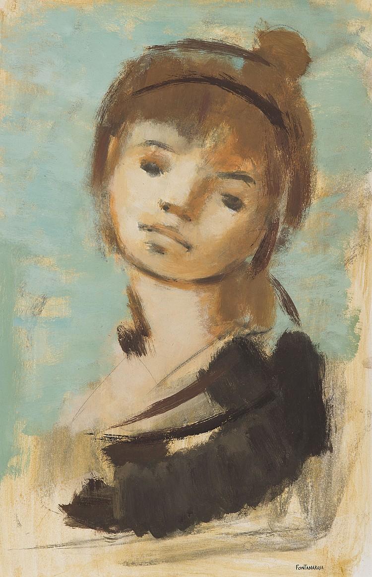 LUCIEN FONTANAROSA (1912-1975) Portrait de jeune fille