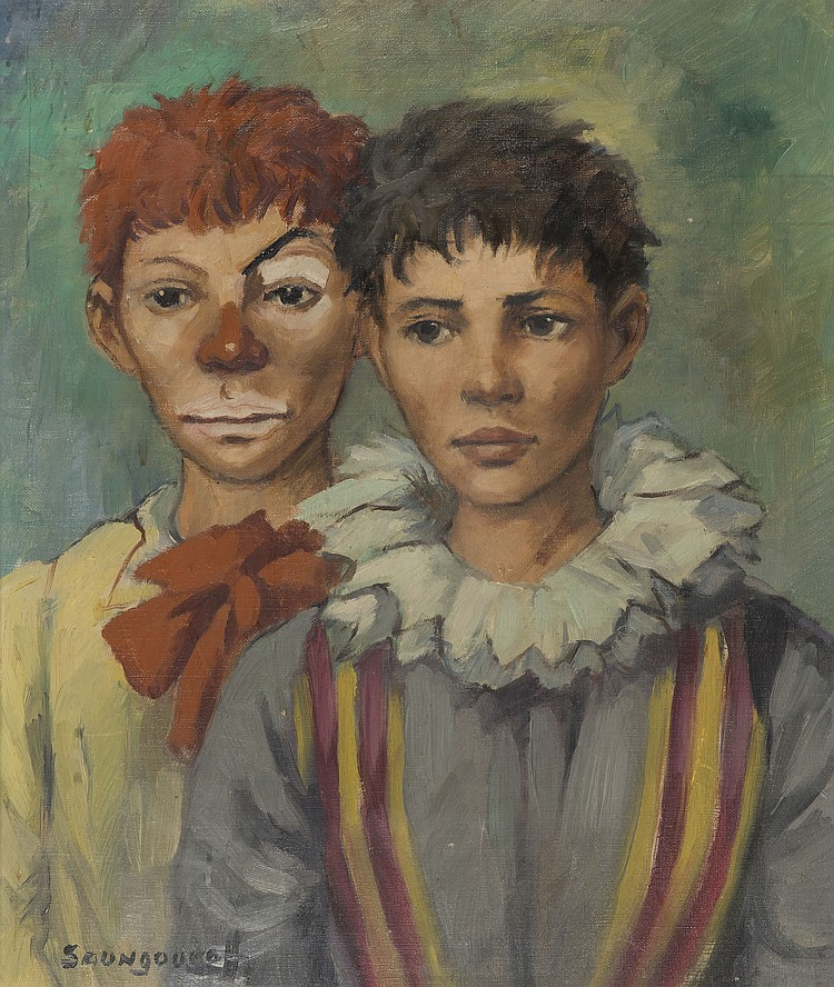 ANTONIN SOUNGOUROFF (1911-1982)  Deux clowns