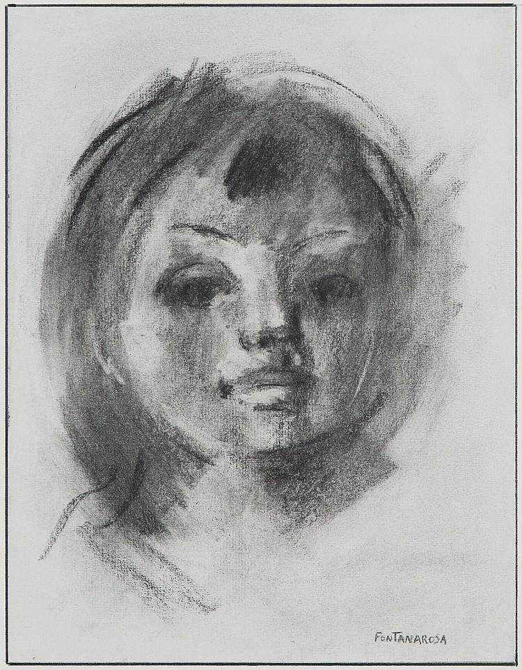 LUCIEN FONTANAROSA (1912-1975)  Portrait d'enfant