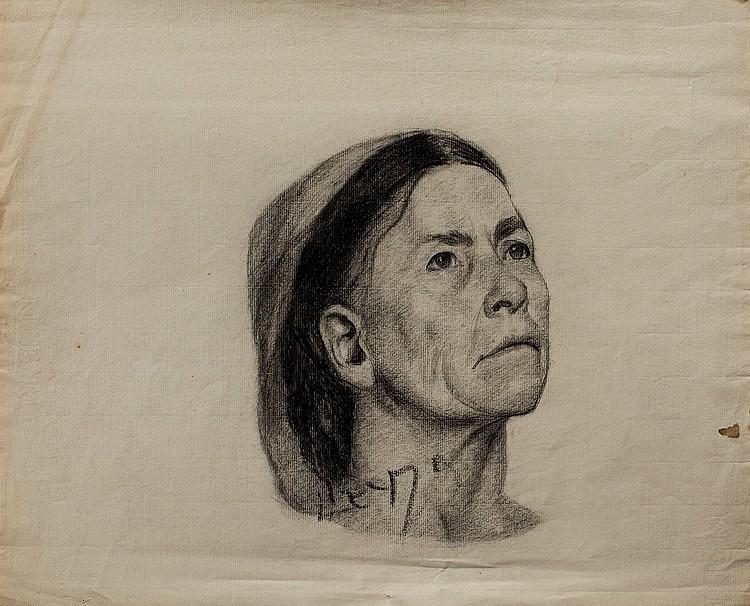 LUCIEN LéVY-DHURMER (1865-1953)  Portrait de femme maghrébine