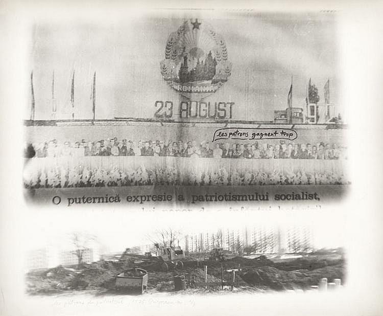 Ion GRIGORESCU (1945)  Les patrons du patriotisme, 1975  Tirage argentique d'époque, légendé, daté, signé,  numéroté 1/3 au crayon.  40 x 50 cm.