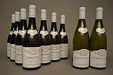 7 bouteilles MARSANNAY CLOS DU ROY Blanc 2010 Mongeard-Mugneret  -  2 bouteilles BOURGOGNE ALIGOTE 2011 Mongeard-Mugneret