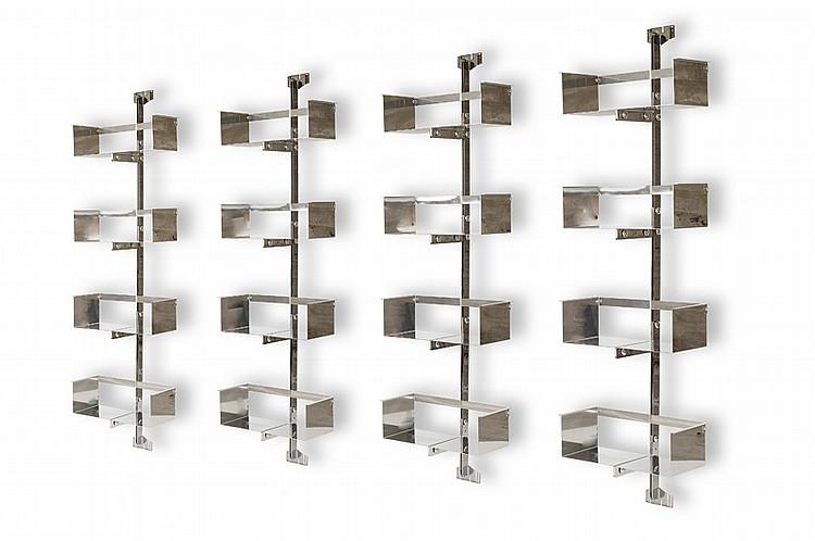 vittorio introini biblioth que p 700 acier aluminium 230. Black Bedroom Furniture Sets. Home Design Ideas