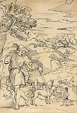 MICHEL CORNEILLE II (Paris 1642-1708) Berger et son chien