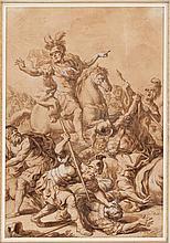 DOMENICO FRATTA (Bologne 1696-1763) Josué à la bataille de Gabaon
