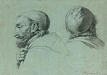 HENRI ALEXANDRE GEORGES REGNAULT (Paris 1843 – Rueil Malmaison 1871)  Etude pour un portrait de saint Vincent de Paul de profil et de dos