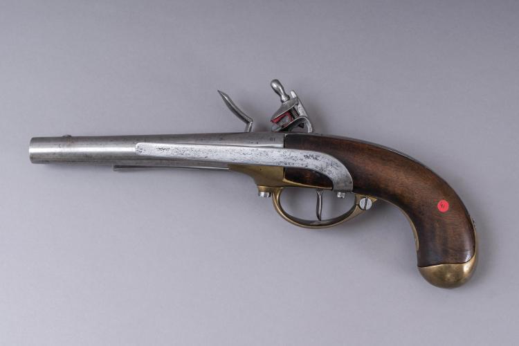 pistolet d arcon a silex modele 1777 canon rond frappe au to. Black Bedroom Furniture Sets. Home Design Ideas