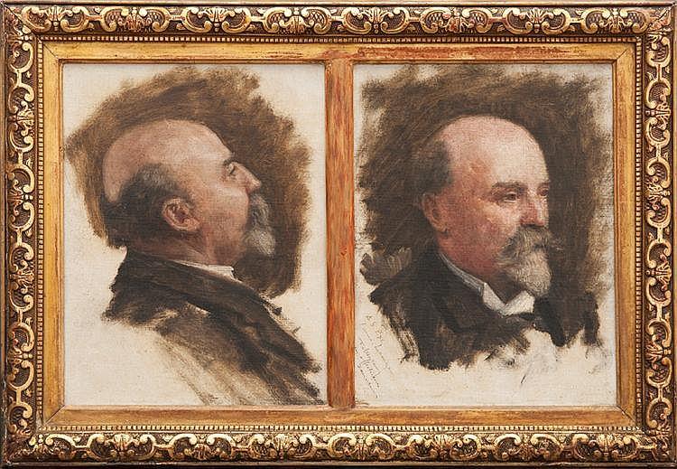 Francis TATTEGRAIN (1852-1915) Portrait d'homme.