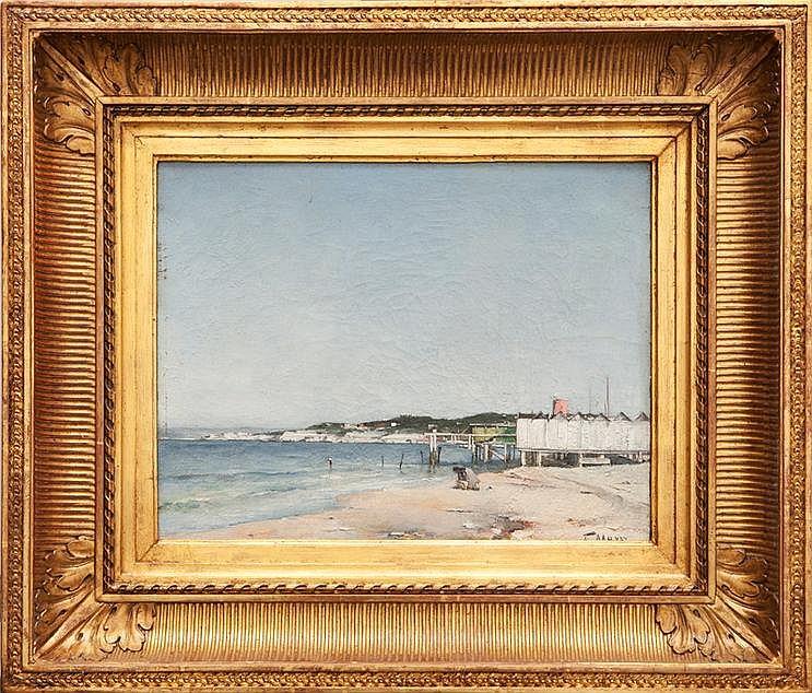 François MAURY (1861-1933) La plage du Prado.