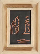 PABLO PICASSO (1881-1973) Sans titre. Panneau en terre cuite.