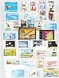 Thématique Concorde :  importante collection : timbres,  lettres, blocs, non dentelés, essais  de couleur, épreuves de luxe, tous  pays (34 albums dans 5 cartons).