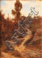 Emile LOUBON (1809-1863)Paysage.Huile sur carton.Signée en bas à gauche.26,5 x 20 cm.