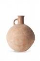 VASE GLOBULAIRE  Court col cylindrique légèrement évasé relié à la panse par une anse  annulaire. Motifs géométriques gravés sous l'anse.  Terre cuite rouge.  Iran, type Marlik. IIè mill. av. J.-C.  H. : 23 cm.