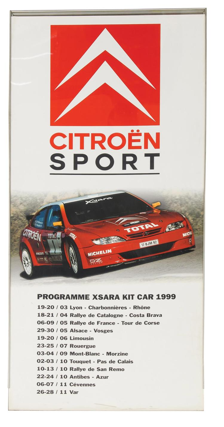 Totem Publicitaire Officiel Quot Programme Sportif Xsara Kit Car