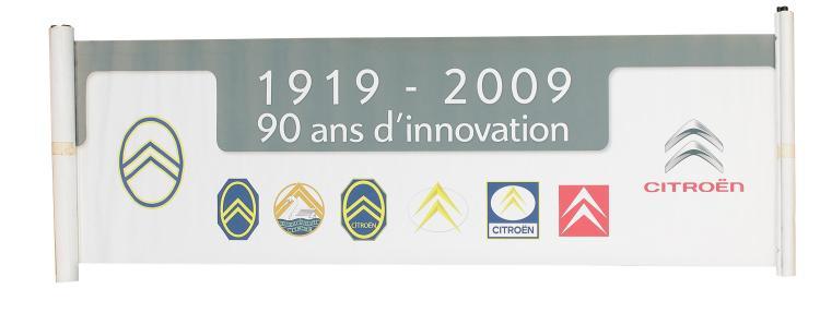 Banderole Publicitaire Officielle Quot 90 Ans D Innovation Quot Logo