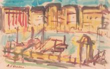 Antoine FERRARI (1910-1995) Le Vieux-Port
