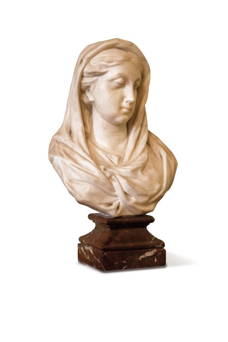 buste de femme drap e l 39 antique en marbre blanc socle de. Black Bedroom Furniture Sets. Home Design Ideas