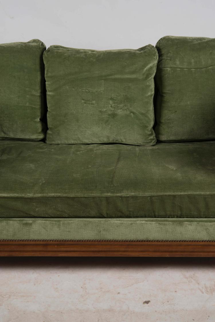 lit de repos de style louis xvi en h tre colonnettes d tac. Black Bedroom Furniture Sets. Home Design Ideas