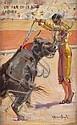 Carlos RUANO LLOPIS(1879-1950)Un Par en lo Alto par « Saleri II ».Huile sur toile contrecollée sur carton.29 x 19 cm.