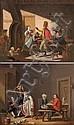 Nicolas Louis Albert DELERIVE (Lille 1755- Lisbonne 1818)    Officiers dans la taverne.    Paire de toiles.    Signées en bas à droite.    41,5 x 51 cm. chacune., Nicolau Luís Alberto Delarive, Click for value