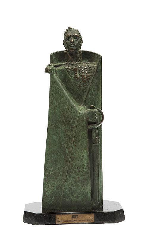 Jean Lambert -Rucki (1888-1967)Maréchal Ney.Sujet en bronze à patine verte nuancée. Signé et titré surune cartouche.H. : 40 cm.
