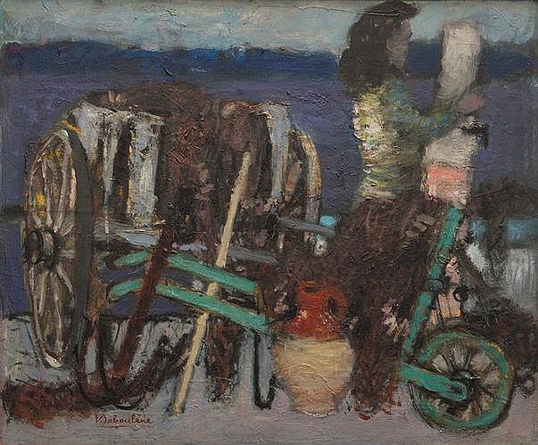 Eugène BABOULENE (1905-1994) La cour de la ferme.
