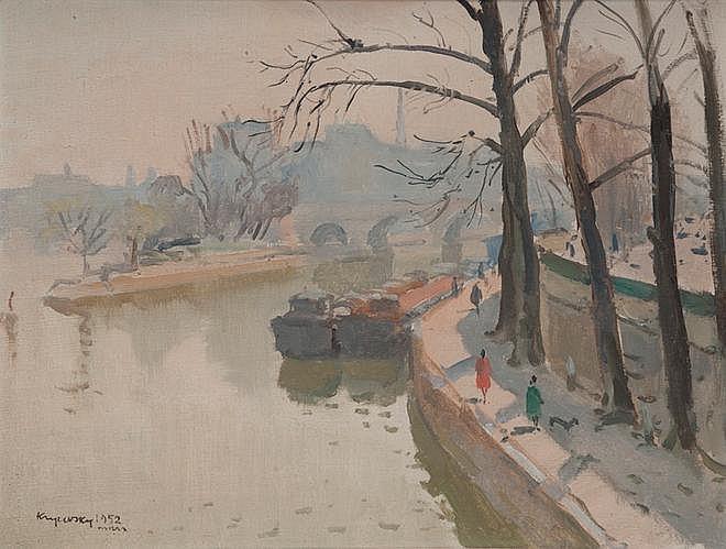 Mykola Vasyl KRYCHEVSKY (1898-1961) Square duVert
